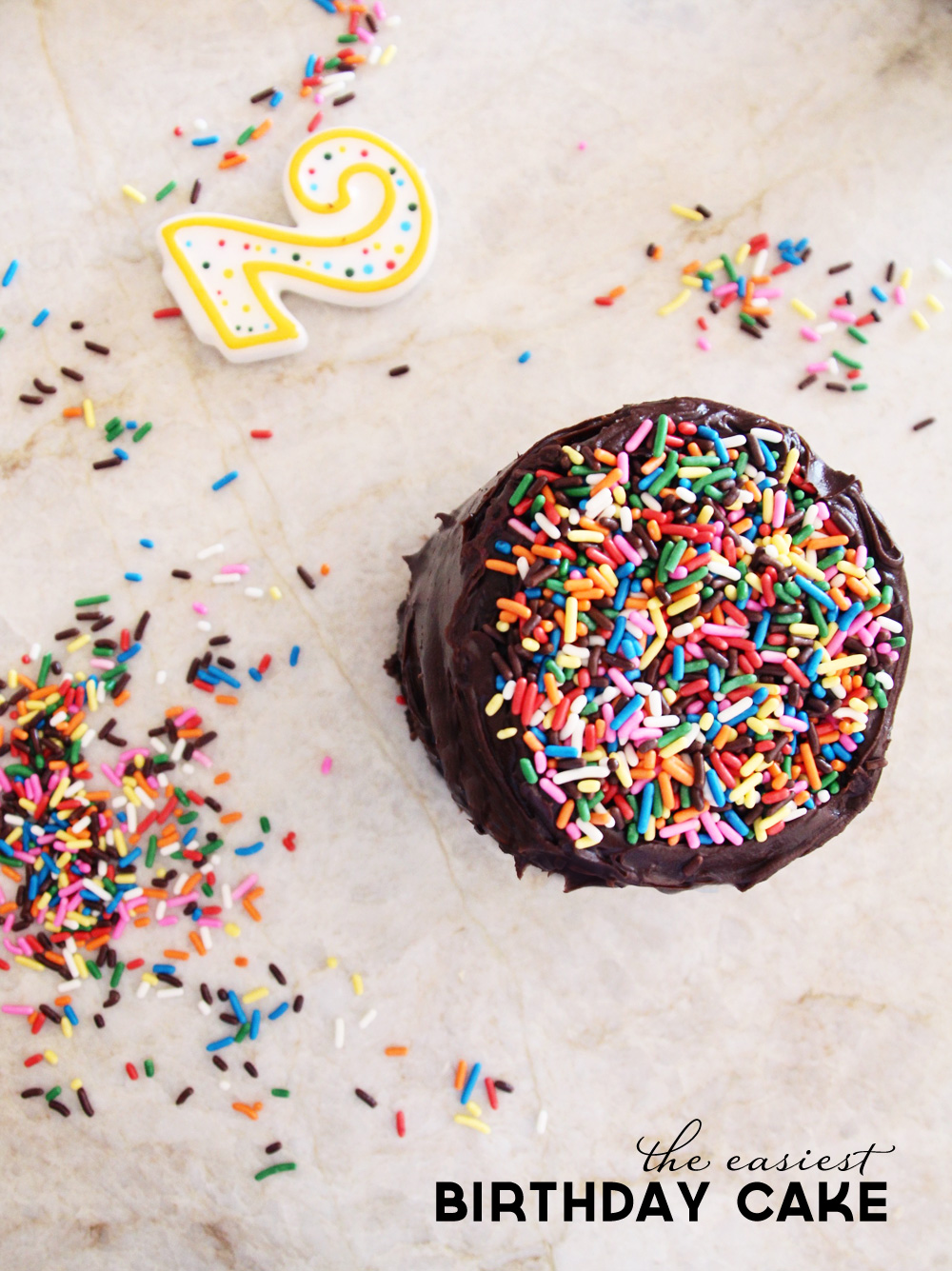 A Simple Sprinkle Birthday Cake | PepperDesignBlog.com