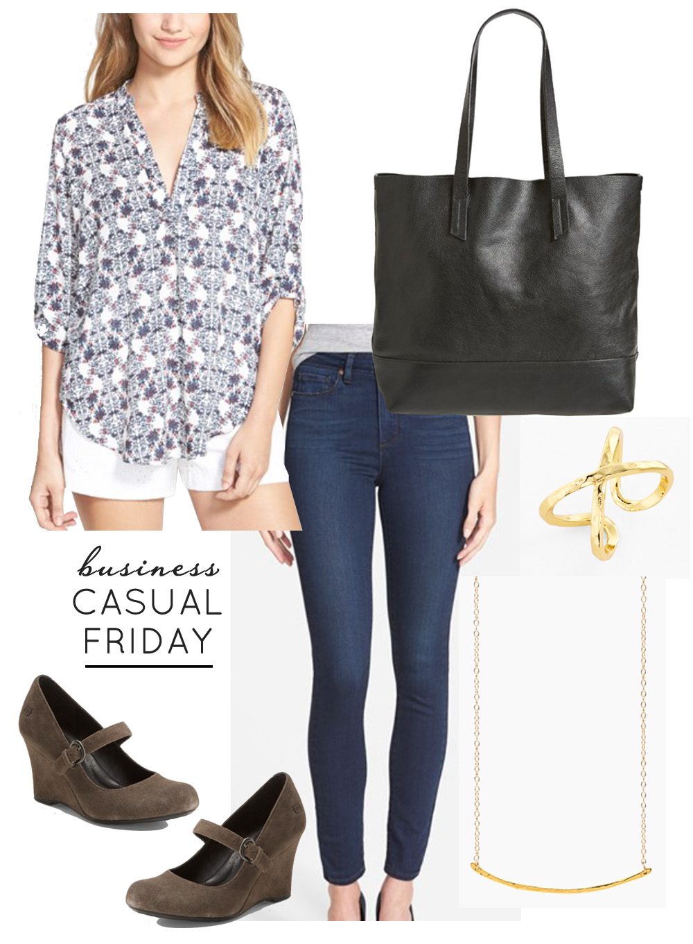 Business Casual Friday Style Board | Nordstrom Anniversary Sale