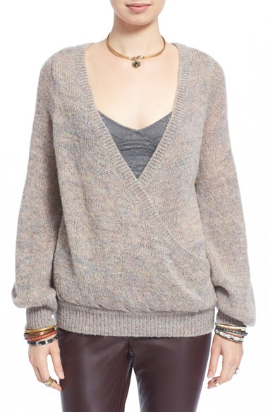 Sweater Weather, 2015 - tan wrap sweater