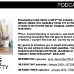 Elise Gets Crafty Podcast Feature