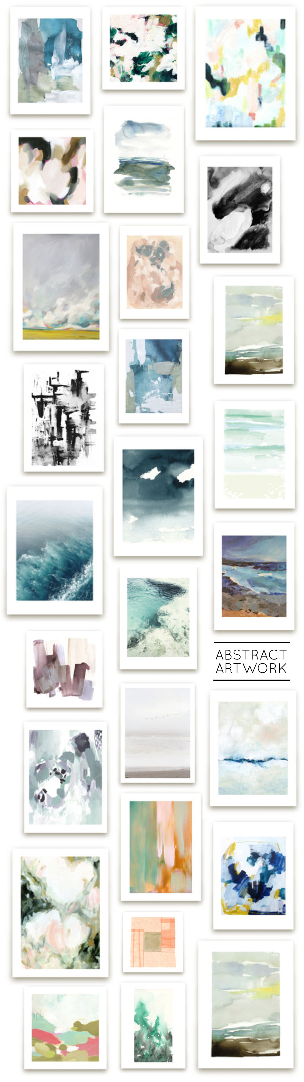 Master Bedroom & Bathroom Minted Artwork Roundup