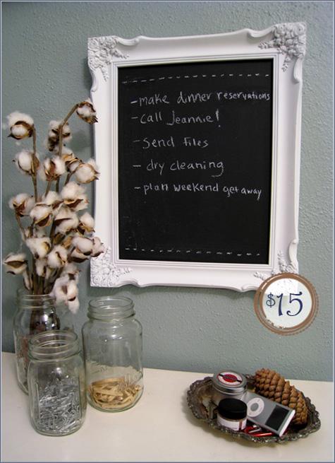 Chalkboard Frame Before and After DIY 2