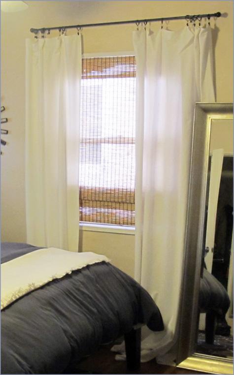 Diy Handmade Dropcloth Drop Cloth Canvas White Curtains Ikea