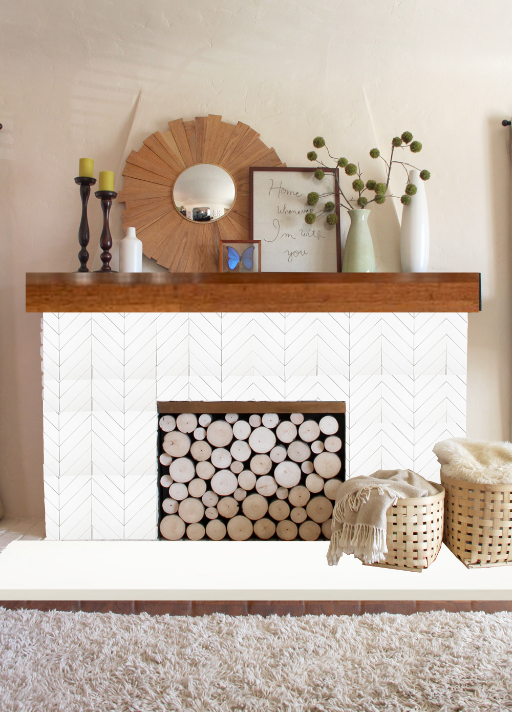 A Mantel Makeover Ideas Pepperdesignblog